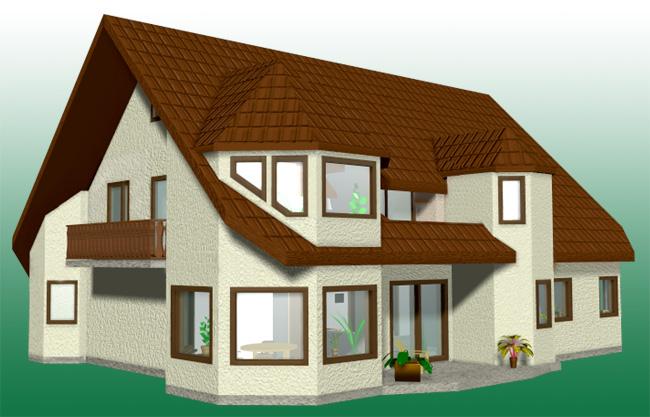 Wonderful Ein Gebäude Als 3D Modell, Das Nach Grundrißzeichnungen Vor Baubeginn  Konstruiert Wurde.