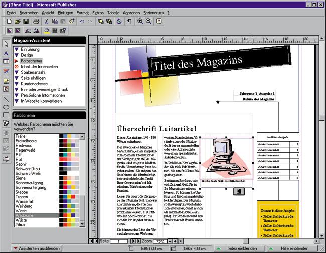 publisher 98 einfache designs michael gradias