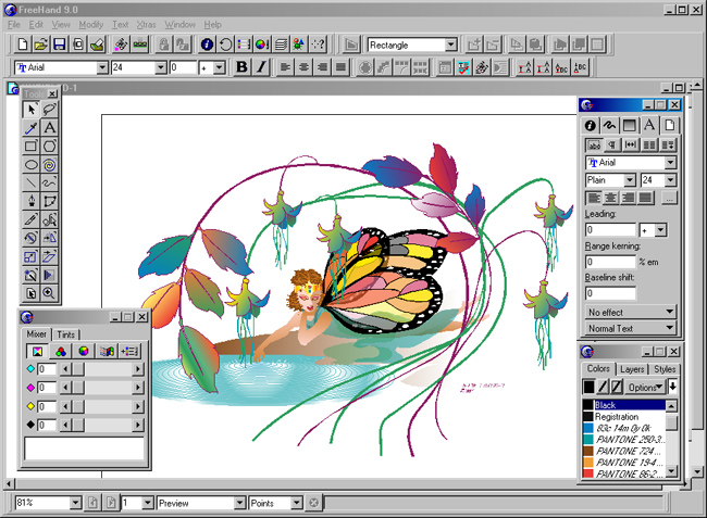 Macromedia Freehand 9 beta